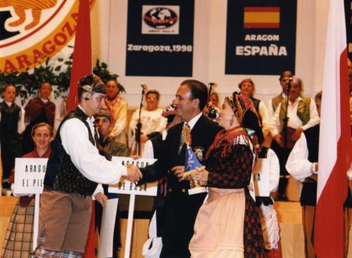 """VII Encuentro Internacional de Folklore """"Ciudad de Zaragoza"""" (CIOFF- Septiembre  98)"""